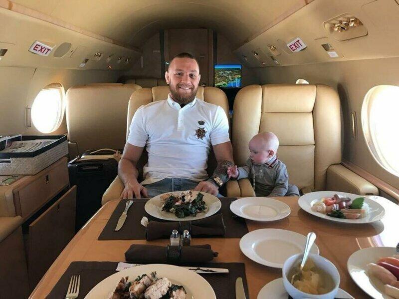 Перелеты на частных самолетах боец, знаменитость, конор макгрегор, роскошь, состояние, спорт