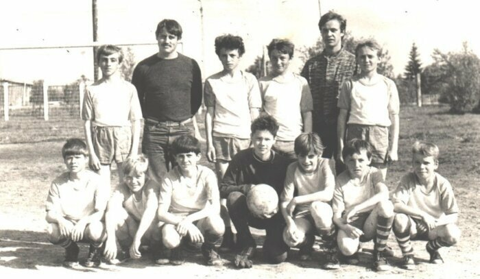 Футбольная команда города Микунь, Коми, 1987 год