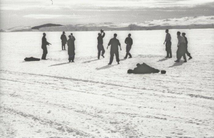 Волейбол в Антарктиде, станция «Мирный», 1956 год