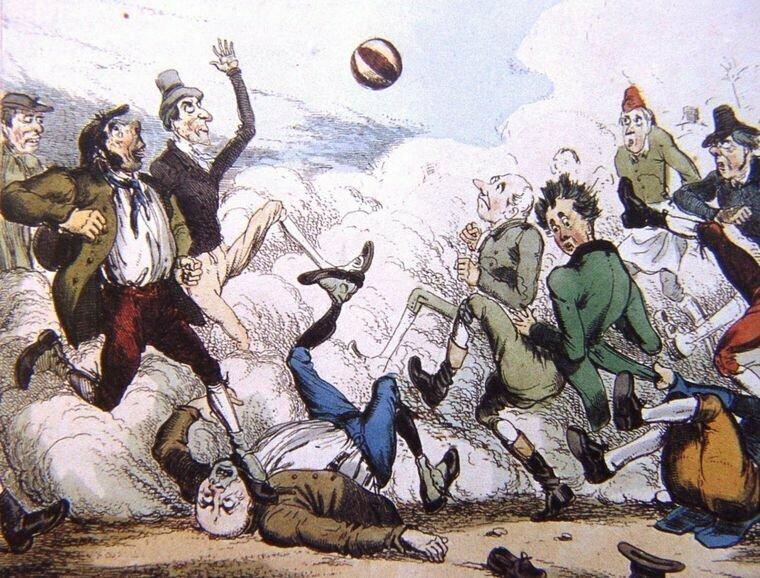[Народный футбол выглядел примерно так.] артур конан дойль, история, литература, спорт