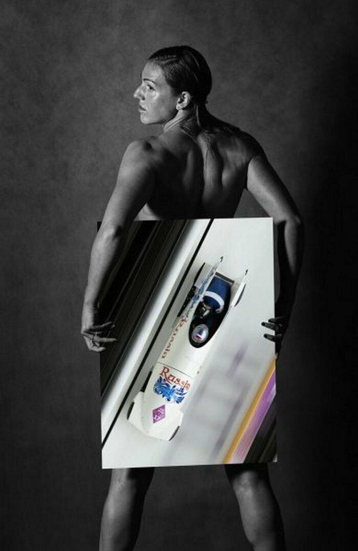 Юлия Шокшуева, бобслей Сочи, голые, люди, олимпийцы, спорт, фотопроект, фотосессия