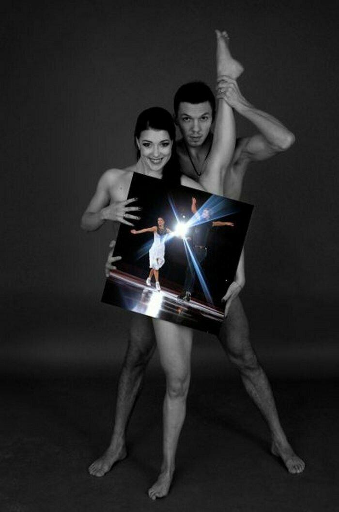 Екатерина Боброва и Дмитрий Соловьев, олимпийские чемпионы командного турнира по фигурному катанию
