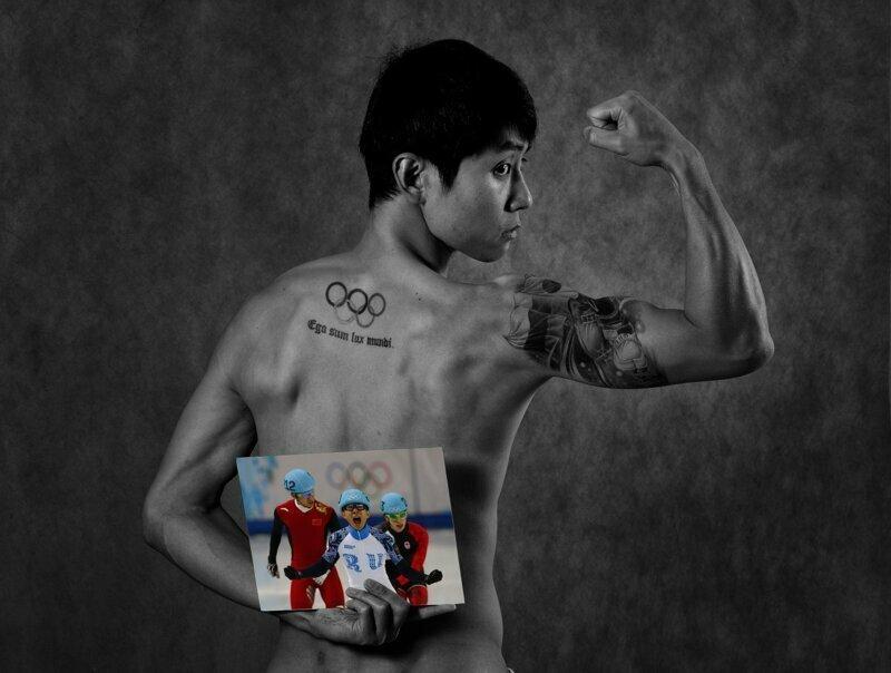 Виктор Ан, шорт-трек Сочи, голые, люди, олимпийцы, спорт, фотопроект, фотосессия