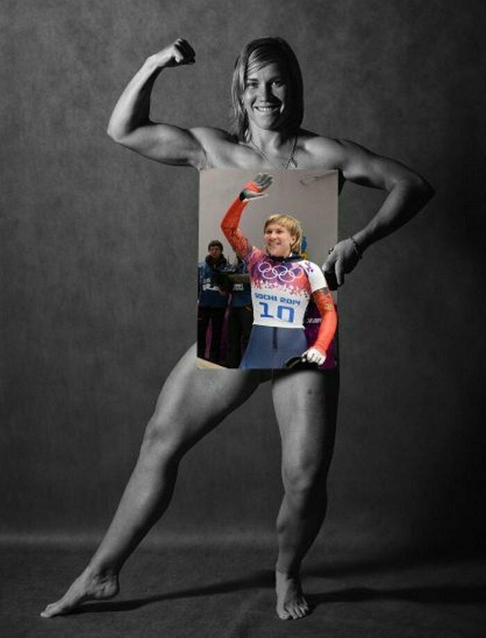 Мария Орлова, скелетон Сочи, голые, люди, олимпийцы, спорт, фотопроект, фотосессия