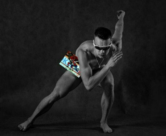 Михаил Козлов, конькобежный спорт Сочи, голые, люди, олимпийцы, спорт, фотопроект, фотосессия