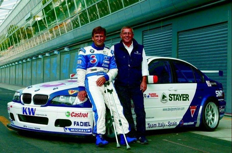 Занарди сел за руль гоночного BMW 320i в 2003 году авто, автомобили, автоспорт, алессандро занарди, гонки, гонщик, инвалид, спорт