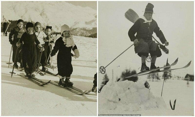 Лыжи 80 лет назад: как выглядело катание на лыжах в 30-е годы 20-е годы, история, лыжи, ретро, ретро фото, спорт, старые фото, фото