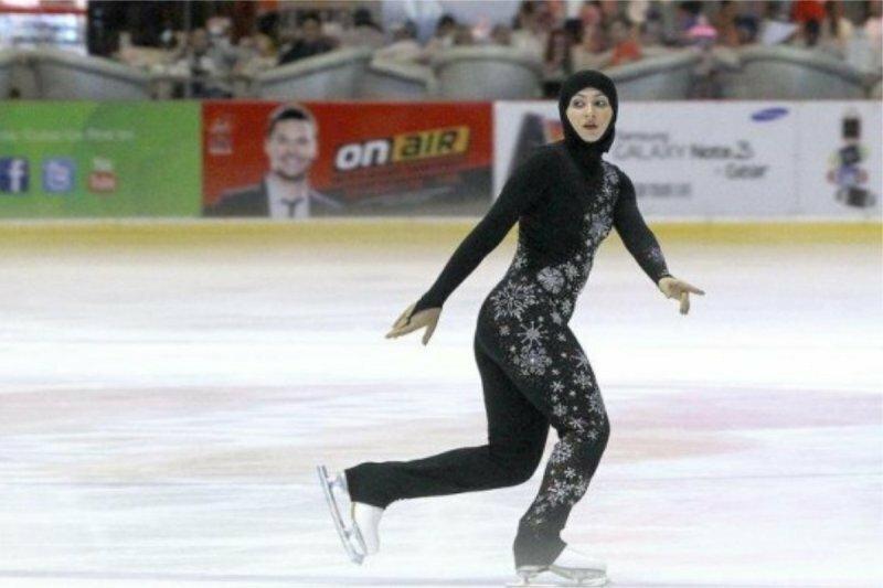 На Универсиаде в Красноярске выступила фигуристка в хиджабе красноярск, спорт, универсиада 2019, фигурное катание