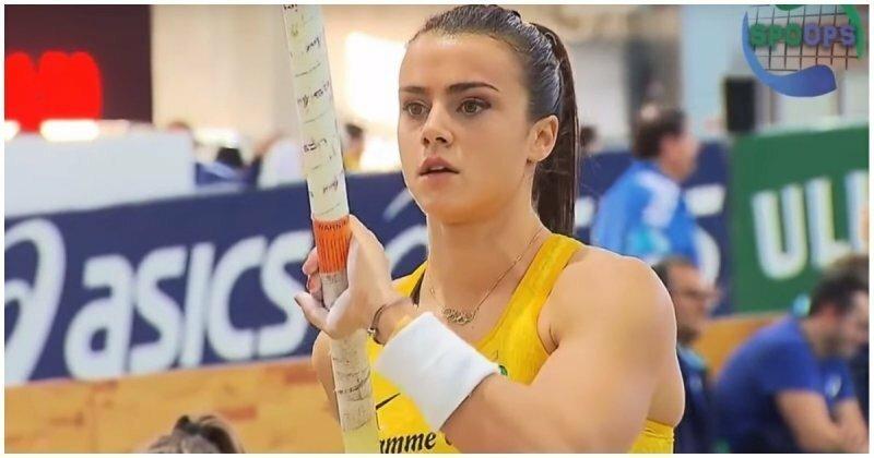 Соревнования по прыжкам с шестом в Италии, на которые приятно смотреть видео, девушки, италия, прыжки с шестом, соревнования, спорт