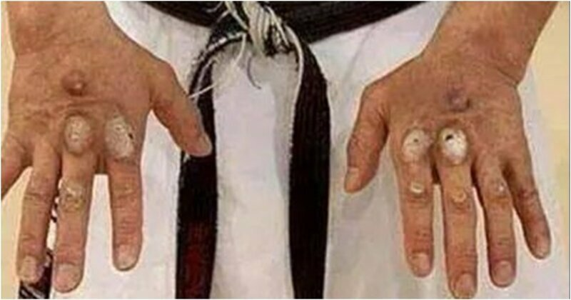 Руки кикбоксера