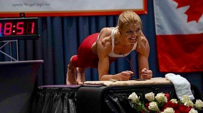 Женщина, державшая планку в течение 4 часов, смогла установить новый мировой рекорд