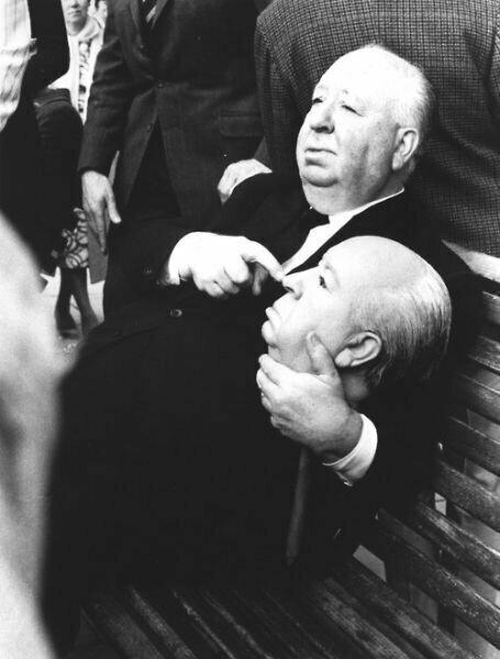 Альфред Хичкок и голова Альфреда Хичкока знаменитости, кино, спорт, фото, фотографии, шоубизнес, эстрада