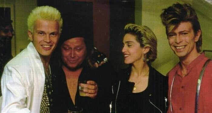 Билли Айдол, Сэм Кинисон, Мадонна и Дэвид Боуи знаменитости, кино, спорт, фото, фотографии, шоубизнес, эстрада