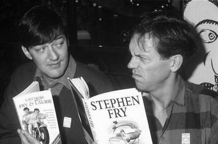 Стивен Фрай и Хью Лори знаменитости, кино, спорт, фото, фотографии, шоубизнес, эстрада
