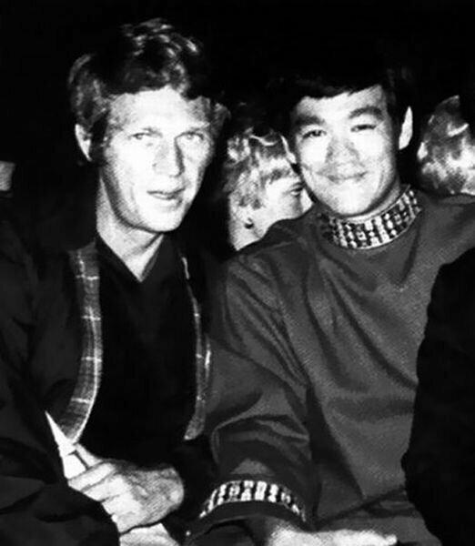 Стив МакКуин и Брюс Ли знаменитости, кино, спорт, фото, фотографии, шоубизнес, эстрада