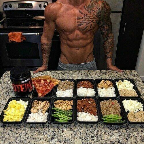 Будьте здоровы! бодибилдеры, еда, калории, красота, много, питание, спорт, стол