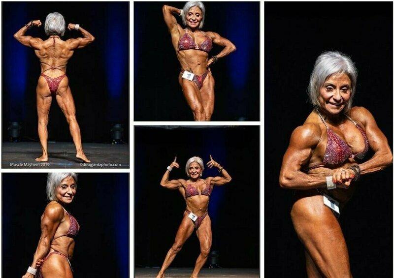70 лет и ревматоидный артрит не отстранили женщину от занятий бодибилдингом бодибилдинг, в мире ребекка вуди, возраст, люди, спорт, тело, фигура