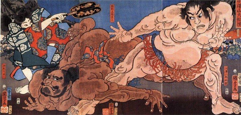 Профессиональное сумо — только для мужчин интересно, спорт, сумо, факты