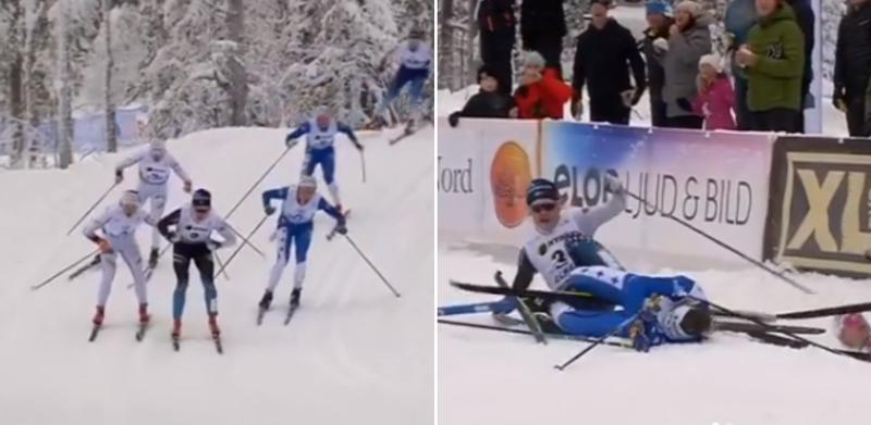 Шведские лыжницы врезались друг в друга и лишились победы