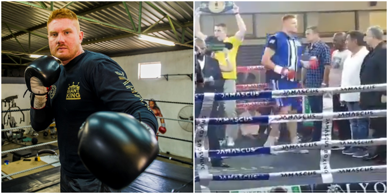 Боксёр проиграл бой ещё до его начала, свалившись с ринга