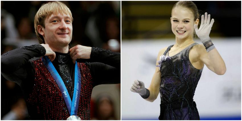 Плющенко и Трусова показали синхронный четверной прыжок