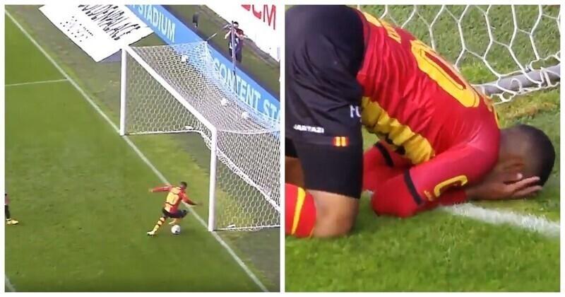 Это фиаско: бельгийский футболист не смог забить мяч с метра в пустые ворота