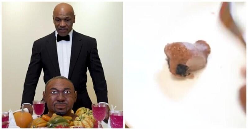Майк Тайсон съел шоколадное ухо Роя Джонса на День благодарения