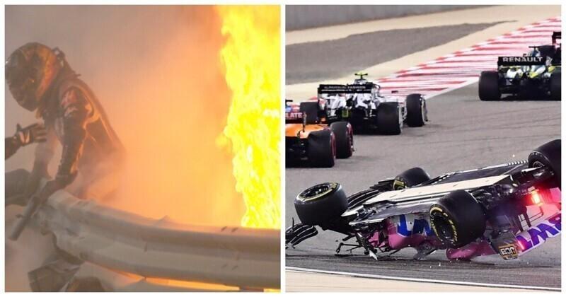 """Российский гонщик """"Формулы-1"""" случайно организовал две серьезные аварии в Бахрейне"""