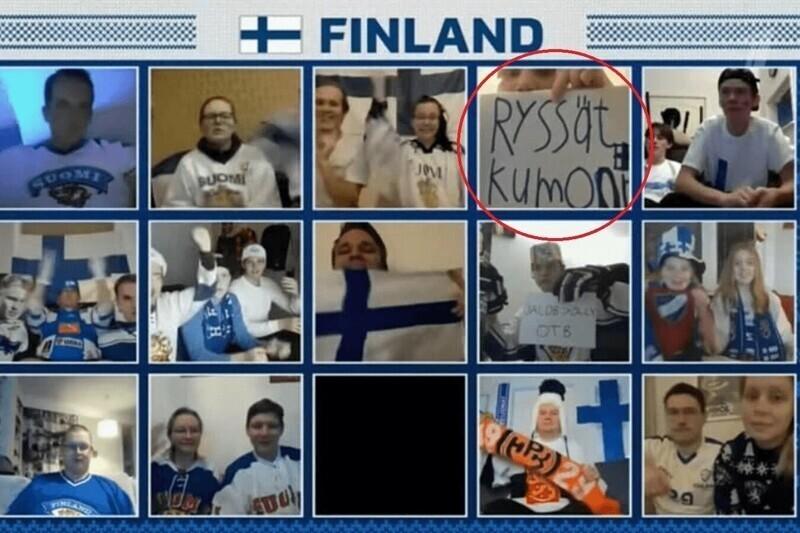 Финский болельщик прямом эфире МЧМ-2021 оскорбил русских