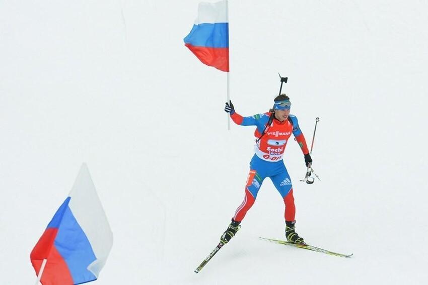 Стало известно, с каким гимном и флагом примут участие в ЧМ российские биатлонисты