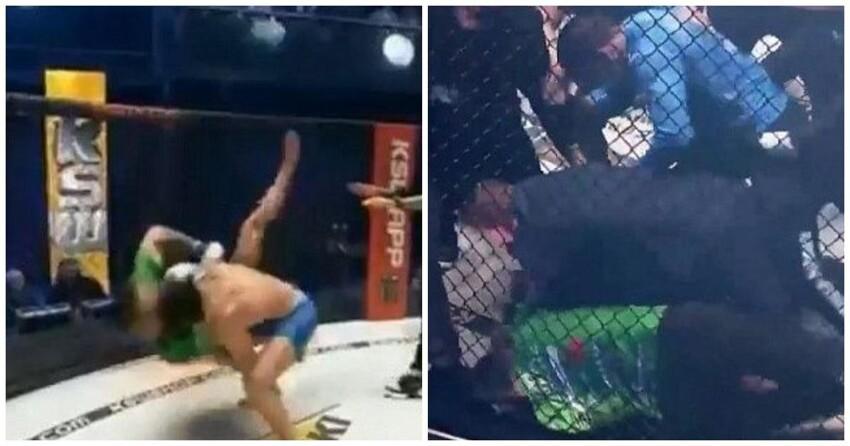 Российский боец MMA устроил потасовку после победы в Польше