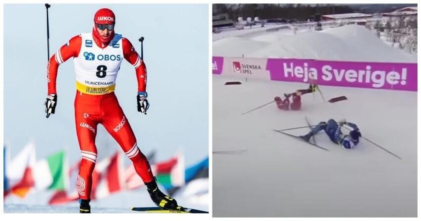 Опять виноваты финны: Россия не вышла в финал Кубка мира по лыжным гонкам из-за падения Глеба Ретивых