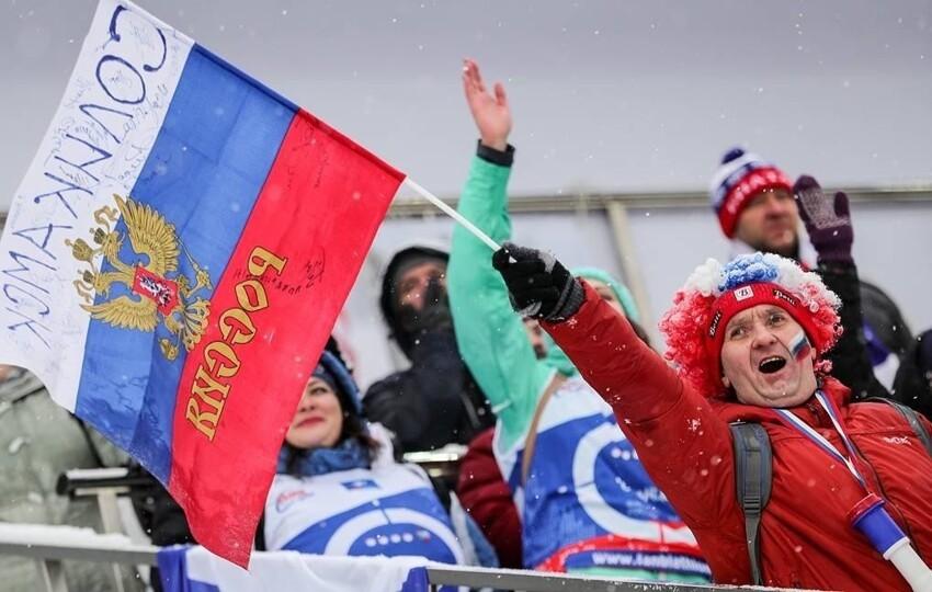 Российским биатлонистам запретили во время ЧМ размещать госсимволы в соцсетях