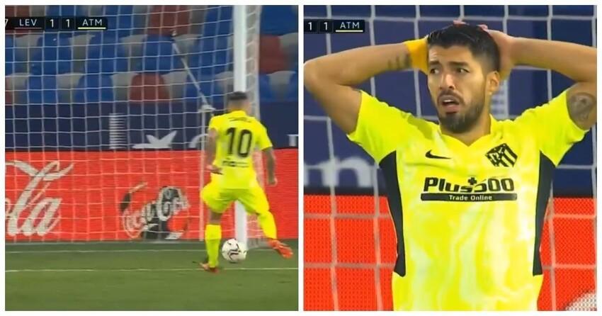 Какая боль: нападающий «Атлетико» промахнулся с 5 метров в пустые ворота