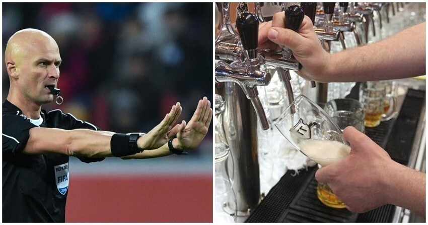 Российским футбольным судьям запретили употреблять алкоголь в публичных местах