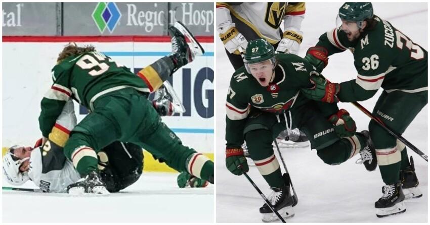 Хоккеист Капризов устроил массовую драку и разбил лицо сопернику
