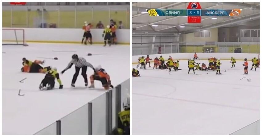13-летние хоккеисты устроили массовое побоище на турнире в Саратове