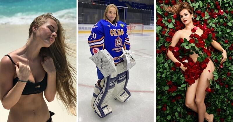 Сексуальные российские хоккеистки в форме и без нее
