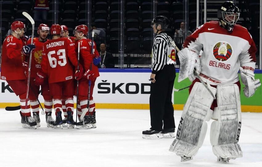 Российская сборная разгромила белорусов и вышла в плей-офф ЧМ по хоккею