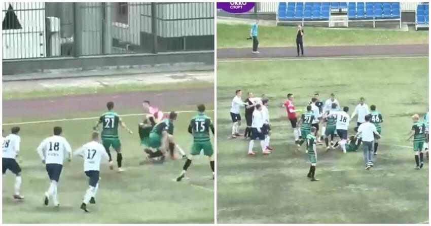 В Казани футбольный матч закончился массовой потасовкой