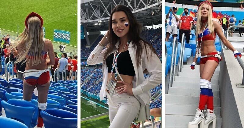 Яркие и красивые: болельщицы сборной России с первого победного матча на ЕВРО-2020