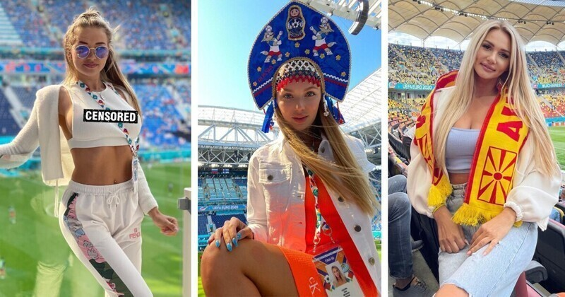 Красота на стадионах, или самые сексуальные болельщицы начала ЕВРО-2020