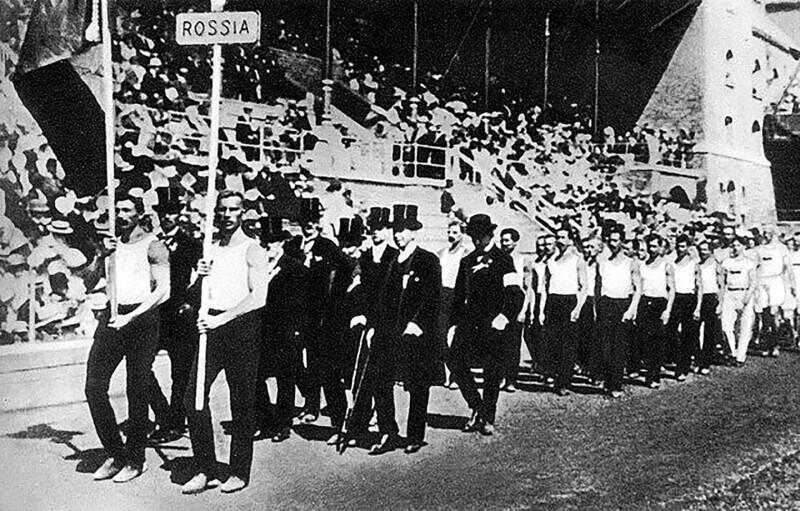 Первое появление России на Олимпиадах