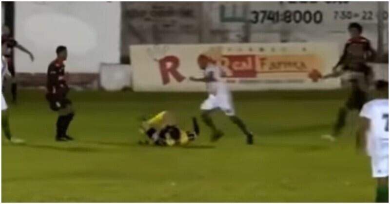 В Бразилии футболисту грозит тюремный срок за нападение на арбитра во время матча